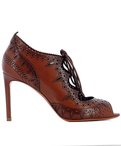 WDGN56431HA2THYLM32 Chaussures Cuir Santoni Marron Femme Talons À 0zxzq5