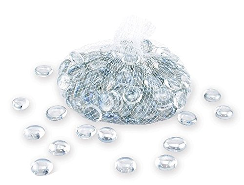 Bump Glass Beads - Down To Earth Clear Luster Glass Gems - For Vase Fillers or Ponds, 2 lbs