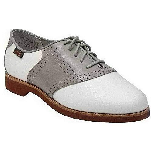 Bass Women's Enfield Oxford,White/Grey,9.5 M US (Oxford Bass Shoes Womens)