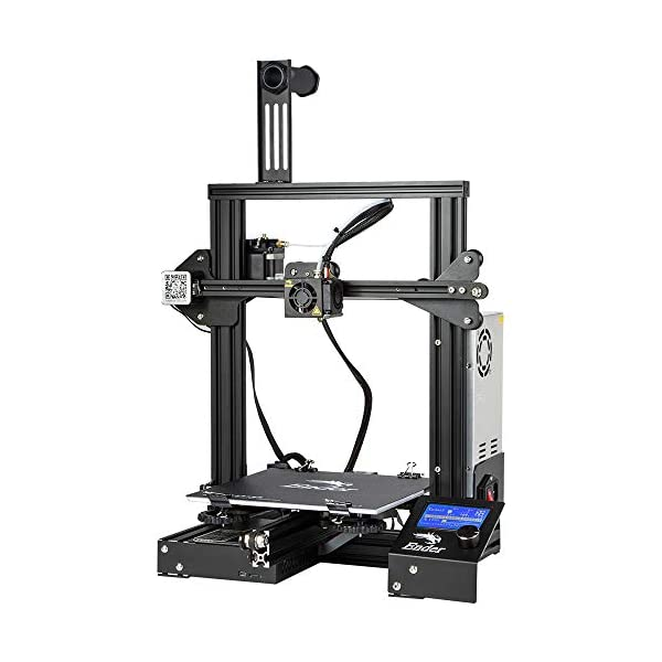 Comgrow Creality 3D Ender 3X 3D Printer with Tempered Glass Plate and Five Free Nozzle Build Volume 8.6″ x 8.6″ x 9.8″