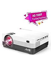 Proyector Portátil - con Zoom, Artlii Proyector HD de 3000 Lúmenes, soporta 1080p Full HD, HDMI x2 /AV/USB/VGA/SD Conexiones