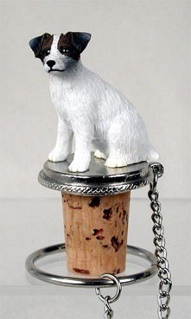 Jack Russell Rough - Jack Russell Terrier Rough Brown & White Dog Wine Bottle Stopper - DTB63A