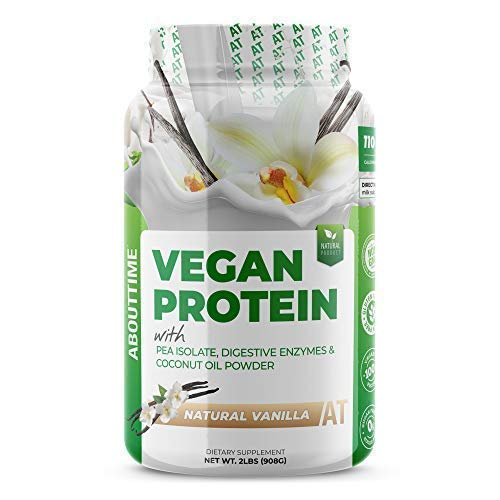 SDC Nutrition About Time Ve Vegan Protein Powder, Vanilla, 2 Pound (Best Time For Protein)