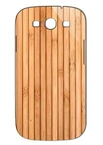 Case Fun Samsung Galaxy S3 (I9300) Case - Vogue Version - 3D Full Wrap - Wooden Deck
