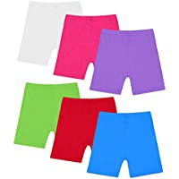 Muhuyi 6 Pack Breathable Safety Dance Shorts Bike Short for Girls