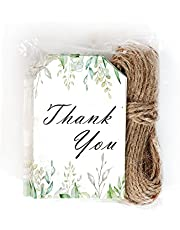 Thank You Tags, Favor Tags for Wedding Favors, Baby Shower, Bridal Shower, Birthday or Special Event (50 Pack)