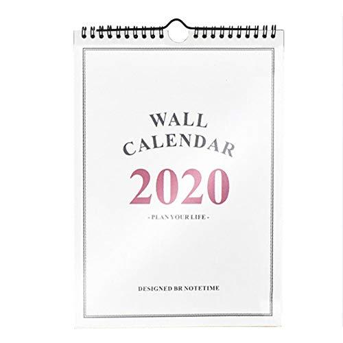 Calendario 2019-2020 Calendario de Escritorio Independiente Calendario del hogar Planificador Calendario de Pared para el ano Escolar Planificador Familiar - 8.11 11.42 Pulgadas