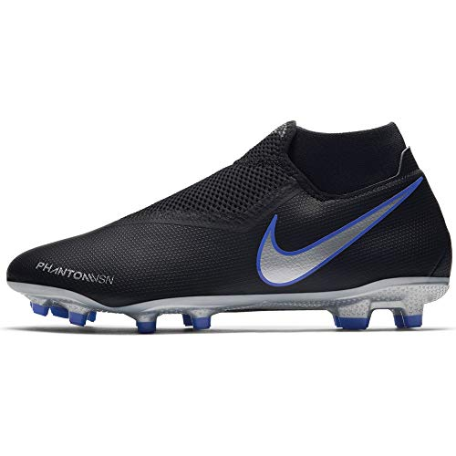 Nike Phantom Vision Academy Men's Firm Ground Soccer Cleats (10.5 M US, Black/Silver)