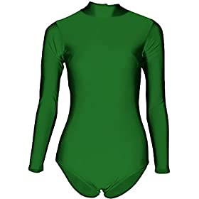 Sheface Women's Lycra Spandex Long Sleeve Turtle Neck Stretchy Dance Leotard 412g1DqNMDL