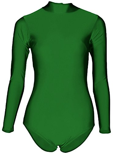 - 412g1DqNMDL - Sheface Women's Lycra Spandex Long Sleeve Turtle Neck Stretchy Dance Leotard