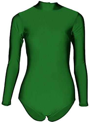 - 412g1DqNMDL - Sheface Women's Lycra Spandex Long Sleeve Turtle Neck Stretchy Dance Leotard