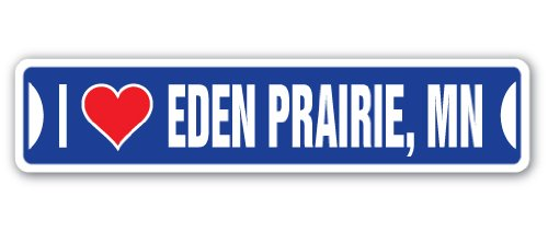I Love Eden Prairie, Minnesota Street Sign mn City State us Wall Road décor ()