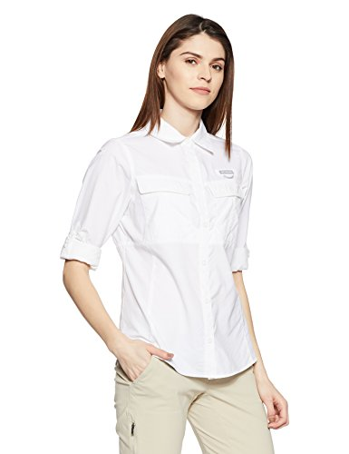 Columbia Women's Cascades Explorer Long Sleeve Shirt, White, - Explorer Sunglasses