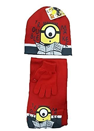 OFFICIAL LICENSED PRODUCT New Spiderman Ironman PAW Patrol Minnie Mouse Winter Knitted Scarf, Hat & Glove Set