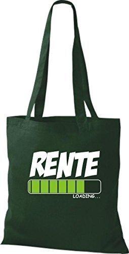 ShirtInStyle Bolsa de tela Bolsa de algodón PENSIÓN Loading - fucsia, 38 cm x 42 cm Verde