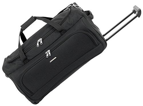 Bolsa de viaje con ruedas dn713–�?1negro + 02de rojo 65cm Bags & More D & N