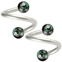 spiral cartilage barbell lip piercings 16g 1/2 2pcs h gauges eyebrow ear twister belly bars Piercing BECJ