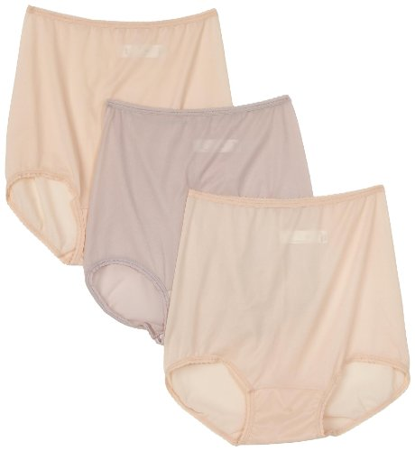 Bali Women's 3-Pack Skimp Skamp Brief Panties, 2 Mocha Mist/1 Rosewood, Size 7