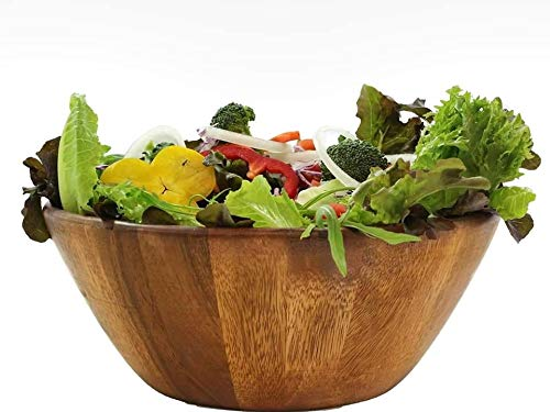 - Wooden Premium Acacia Wood Salad Bowl 10 inches
