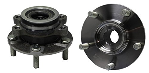 Both (2) Front Driver and Passenger Side Complete Wheel Hub and Bearing Assembly Set for [07-12 Sentra SE-R, SE-R SpecV] - 08-13 Rogue - [14-15 Rogue Select]