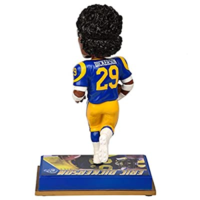 "NFL Los Angeles Rams Eric Dickerson #29 Retired Player Bobble, 8"", Team Color"