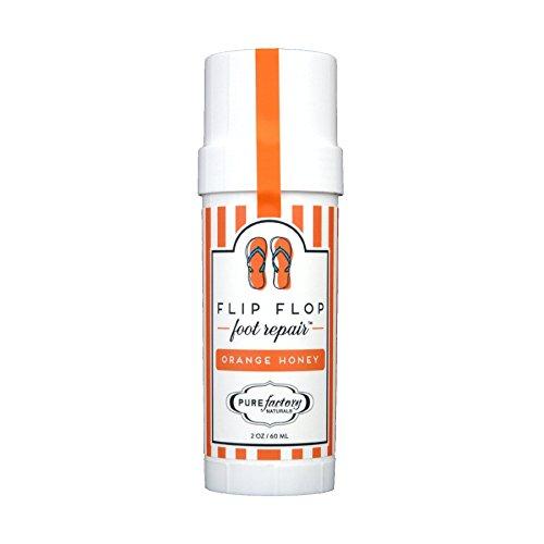(Flip Flop Foot Repair by PURE Factory - Orange Honey 2 oz. Moisturizer Feet)
