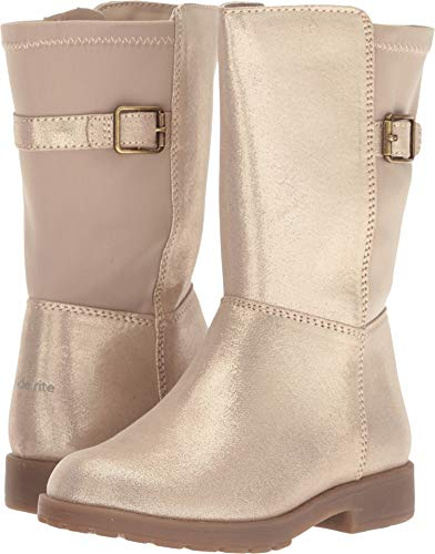 Stride Rite Willow Girl's Lightweight Riding Boot Fashion, Gold, 10 M US Toddler ()