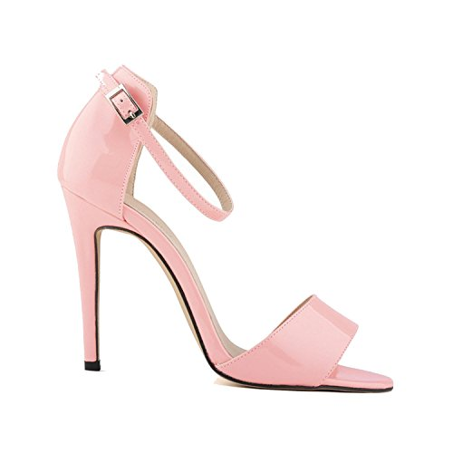 New-Loft Sandals Summer Thin Heels Ankle Buckle Casual Sandal Pumps NPZ-A0059,7,39 ()