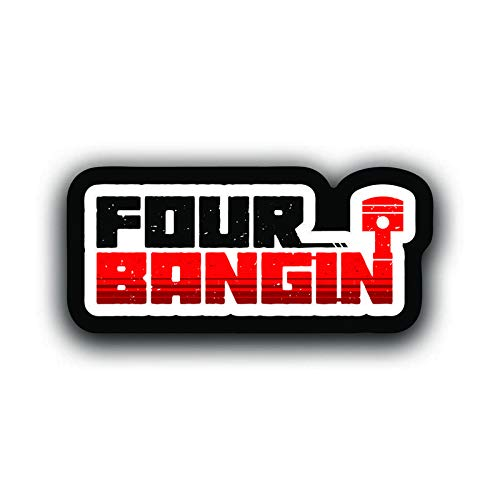 Two 5 Inch Decals 2 Pack More Shiz Four Bangin Car Truck Van SUV Window Wall Cup Laptop Vinyl Decal Sticker MKS0709