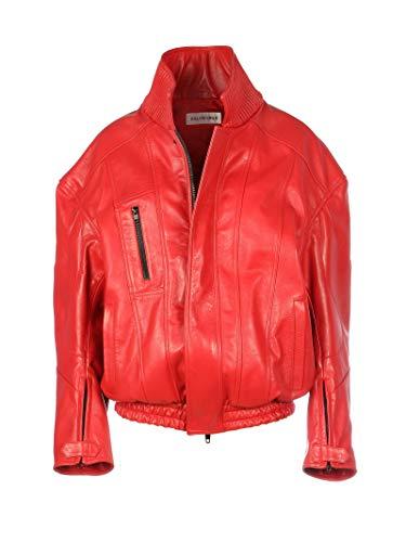 Balenciaga Luxury Fashion Womens 595969TGS046400 Red Outerwear Jacket | Fall Winter 19