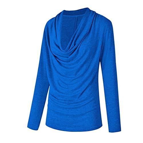 Longues Femmes Manches Tops Mode Confortable Shirt Hiver paule Automne Hors Printemps Jolie Tricot Solide Bleu Nouvelle Femme t Chandail Mode Blouse T 2018 lgant qPZvA6x