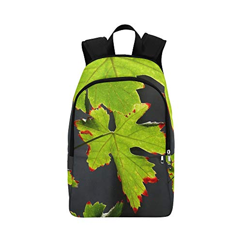 Redhead Screws - XINGCHENSS Screw Autumn Summer Leaf Leaves Green Redhead Casual Daypack Travel Bag College School Backpack Mens Women
