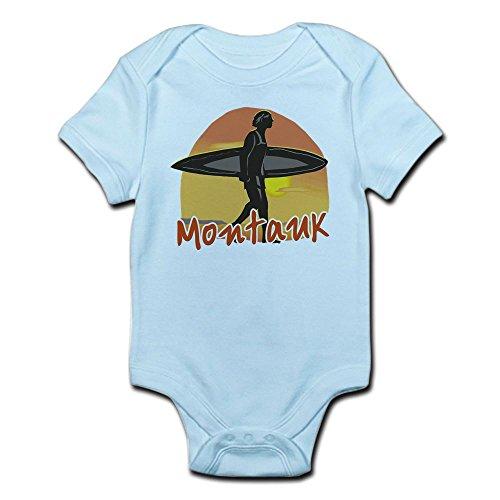 CafePress Montauk Surf - Cute Infant Bodysuit Baby Romper