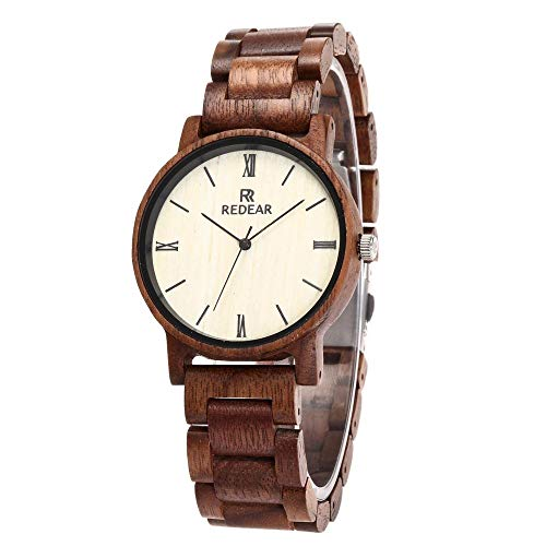 Amazon.com : GFFXIXI Womens Watch   Minimalist Design   Red Sandalwood Watch from Sustainable Management   Mid-Range Price : Sports & Outdoors