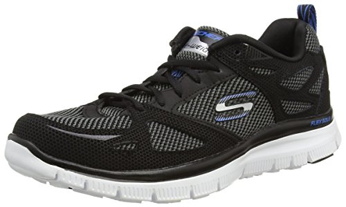 Noir Skechers Team Bkbl Sneakers Basses Flex Advantage Homme nbsp;First Noir rqA0rO