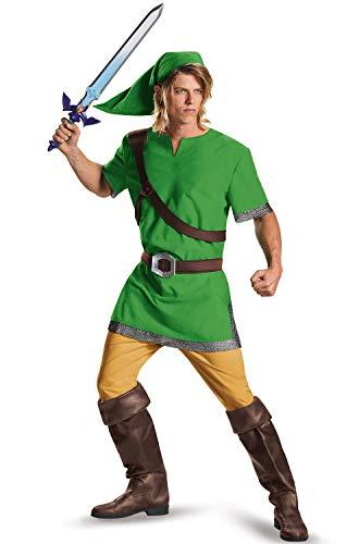 Disguise Men's Link Classic Adult Costume, Green, Medium ()