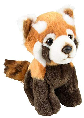 Wildlife Tree 7 Inch Stuffed Red Panda Plush Sitting Animal Kingdom Collection