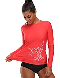 Beautyin   Bañador de manga larga para mujer, UPF 50 + Rash Guard Athletic Tops