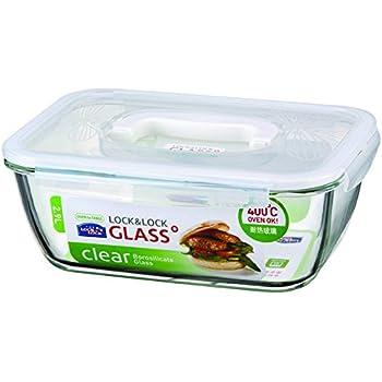 Amazoncom LOCK LOCK GLASS 122 Cup Borosilicate Glass Oven