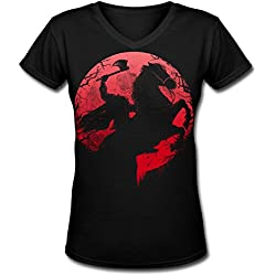 V Neck Female Headless Horseman Graphic Design Colleges T Shirts