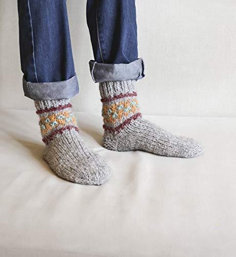 86e8a5ecc381a Men knitted socks Christmas socks for men Wool socks men Cozy winter socks  Warm socks men ...