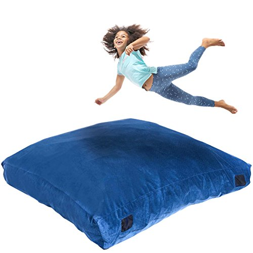 Milliard Crash Pad | Sensory Pad with Foam Blocks for Kids and Adults + Bonus Washable Cover | 5ft x 5ft