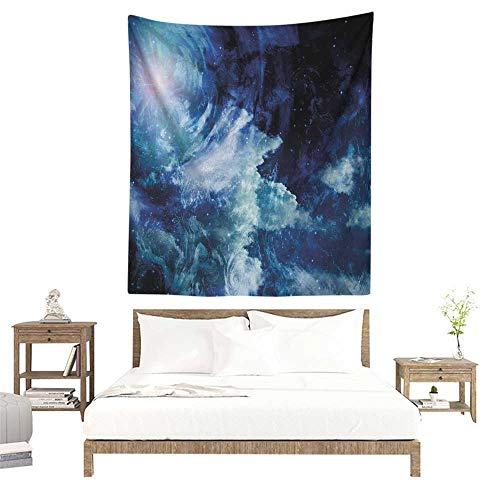 (Tapestry Wall Hanging 3D Printing Space Nebula Gas Cloud on Celestial Sphere Universe Themed Infinity Design Galaxy Art Print 60W x 91L INCH Suitable for Bedroom Living Room Dormitory)