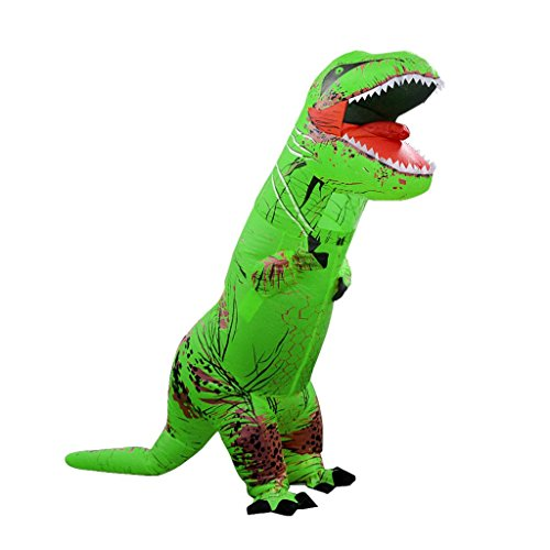 [Han Shi Adult Costume Dinosaur Dress-up Costume ADULT SIZE Halloween Costume (Green)] (Scoobydoo Adult Plus Costumes)