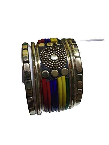Modish Look Multi-Colour brass Bangle Set for Girl
