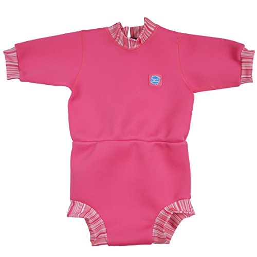 Splash About Happy Nappy Wetsuit (XX Large 24+ Toddler, Pink - Wetsuit A Put On