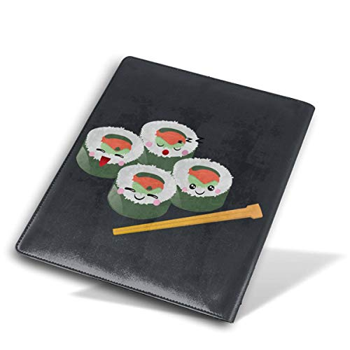 Sushi Logo Stretchable Leather Book Covers Standard Size for Student Hardcover Textbooks Fits Up to 9x11 Inch