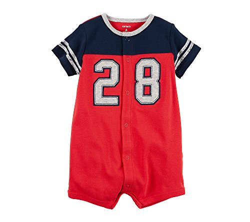 Carter's Baby Boys' All Star Snap Up Romper,Red,Newborn ()