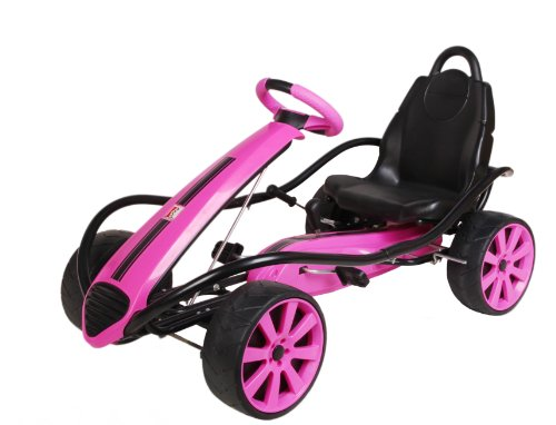 Kiddi-o by Kettler Sport Kid Racer Pedal Car, Pink (Racer Car Toy Pedal)
