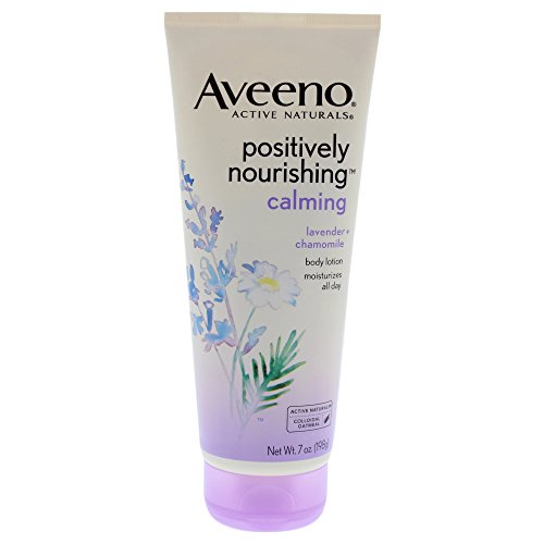Aveeno Positively Nourishing Lavender And Chamomile Calming Body Lotion, 7 Fl. Oz (Pack of 2)